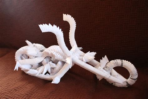 Origami Motorcycle - 3d origami chopper motorcycle by ulvgnar on deviantart