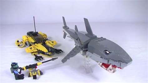 lego boat and shark lego tiger shark attack 7773 review youtube
