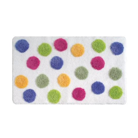 polka dot bath rug interdesign glee bath accent rug polka dot multi color bathroom floor decorative ebay