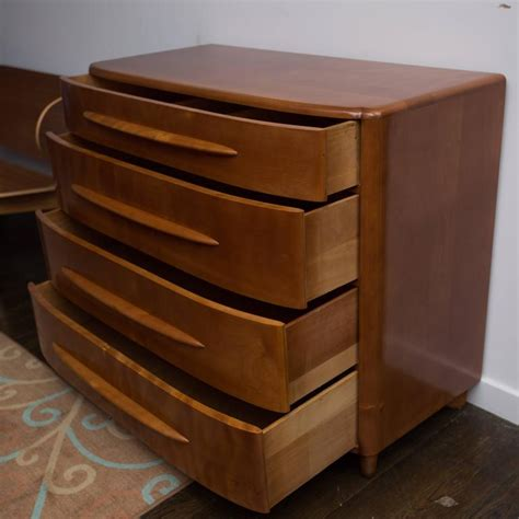 Low Dresser With Drawers by Heywood Wakefield Four Drawer Low Dresser At 1stdibs