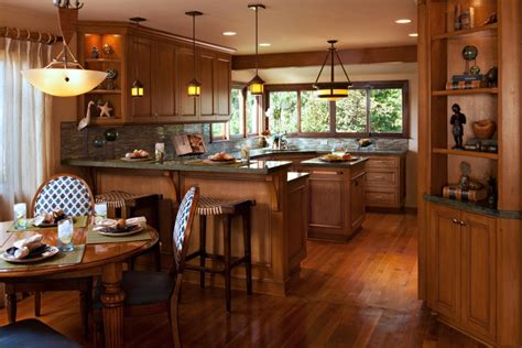 Craftsman Style Homes Interiors Interior Architecture Designs Beautiful Open Kitchen Dining Space Craftsman Style Interiors