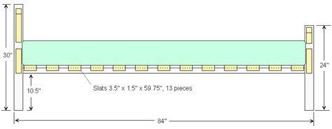 queen size bed frame plan 2d version