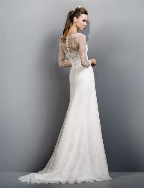 sheath wedding style dresses make a flairy appearance - Sheath Wedding Dress