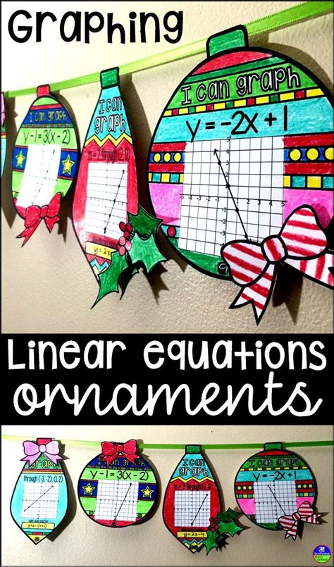 christmas algebra projects 33 best secondary math images on math middle school algebra 1 and high