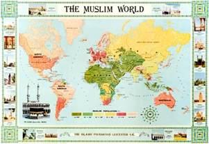 Islamic World Map by Opinions On Muslim World