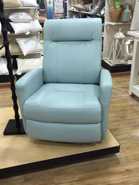 light blue leather recliner home goods leather recliner in light blue home