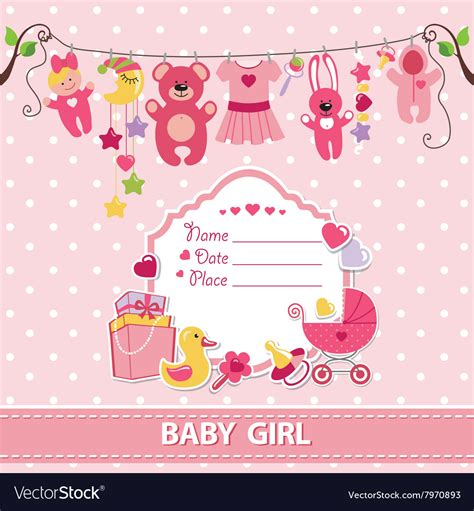 New Baby Card Template by New Born Baby Card Shower Invitation Template