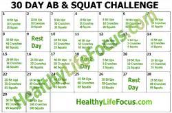 30 day squat challenge printable 30 day squat and ab challenge
