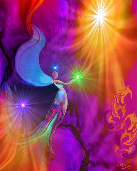 chakra art reiki angel wall decor  gift primal