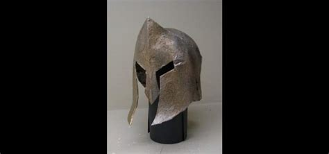 How To Make A Spartan Helmet Out Of Paper - how to make a spartan war helmet out of cardboard and