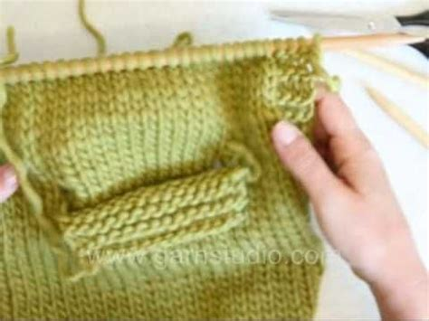 knitting pockets tutorial drops knitting tutorial how to knit a pocket on inside