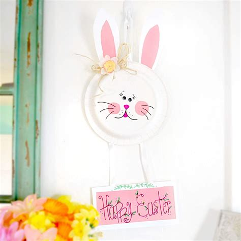 Easter Bunny Paper Plate Craft - toilet paper easter bunny craft images craft decoration