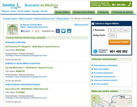 cuadro medico sanitas coruña sanitas buscador m 233 dico aspgems soluciones 225 giles