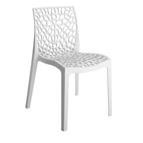 chaise de jardin en r 233 sine grafik blanc leroy merlin