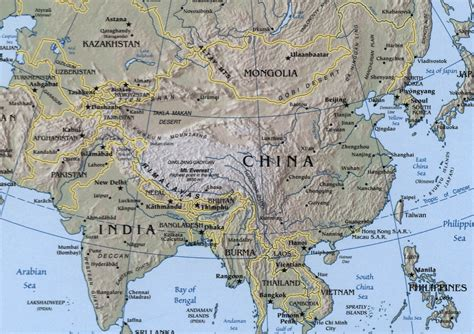 asia map geography sino indian geography mapsof net