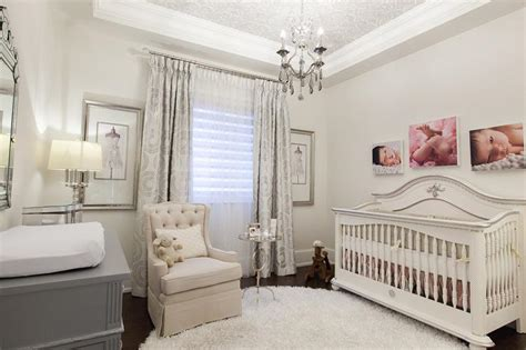 nursery wallpaper grey and white french nursery with silver damask wallpaper on ceiling