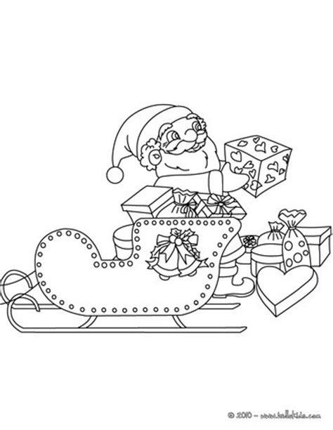 coloring pages of santa claus in his sleigh santa claus his sleigh coloring pages hellokids com
