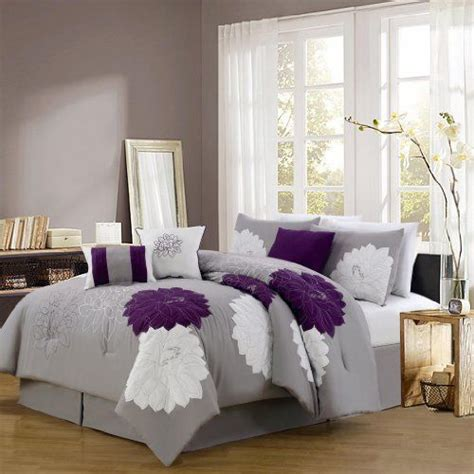 gray and purple comforter set pinterest the world s catalog of ideas