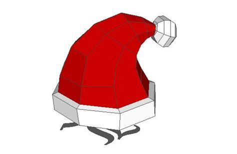 Papercraft Hat - size santa s hat free papercraft