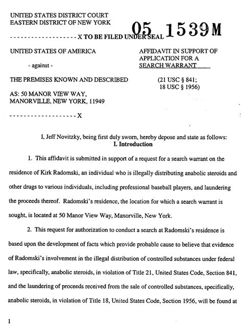 Tarrant Warrant Search Kirk Radomski Search Warrant Affidavit The Gun