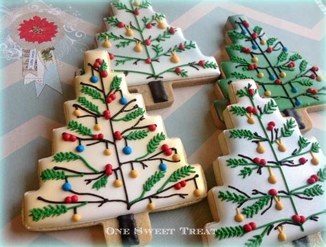wonderful christmas trees decorated sugar cookies cookie