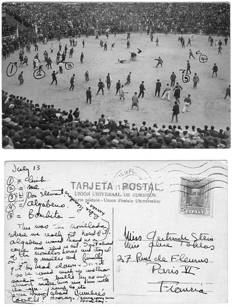 postcard ernest hemingway s postcard from spain to