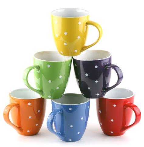 Set of 6 Large sized 16 Ounce Ceramic Coffee Mugs Only $14.97 (Reg. $59.95!)