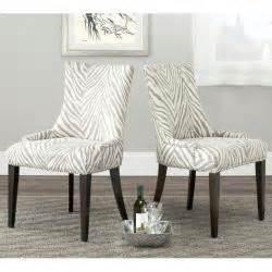 zebra pattern dining chairs brown zebra pattern linen fabric