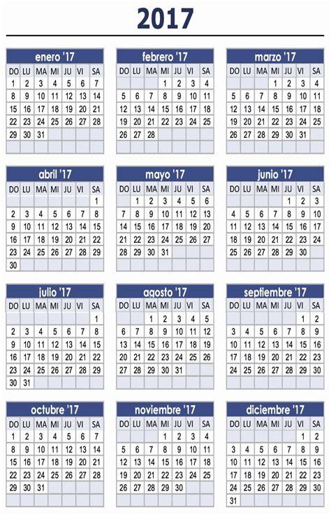Calendario 2017 Actualizado Algunos Calendarios 2017 Predefinidos 171 Para Jefaturas