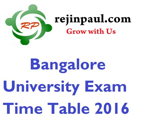 Rejinpaul Important Questions For 4th Sem Mba by Bangalore Time Table 2016 Nov Dec Ug Pg