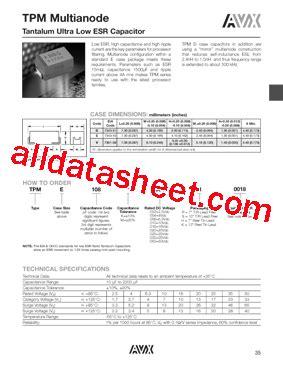 capacitor tantalum datasheet avx capacitors tantalum datasheet 28 images m39006 datasheet pdf avx corporation