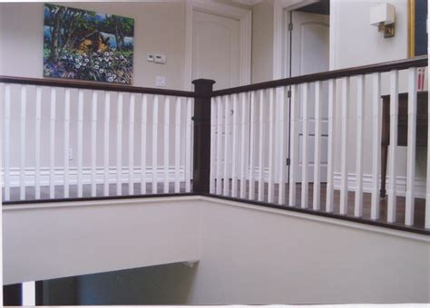 Banister Baby Proof by Painted Oak Pickets With Stain Handrail Stair Cases
