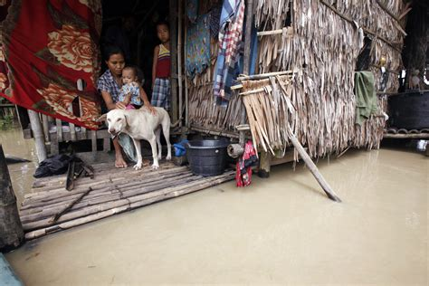 How To Collect Money After Winning A Judgement - a family sits in submerged house in nyaung tone 90 km southwest of yangon on