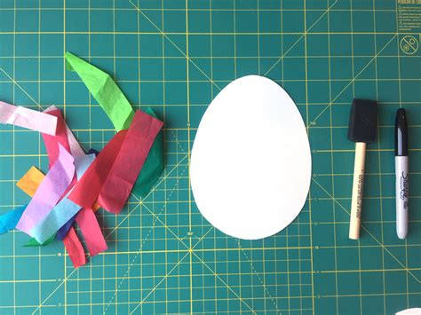 Paper Crafts Supplies - tissue paper crafts the easter project we can t wait