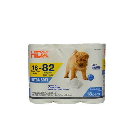 hdx ultra soft toilet tissue  sheets  roll  rolls  pack   home depot