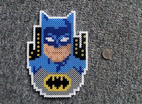 perler black black fingers batman superman perler