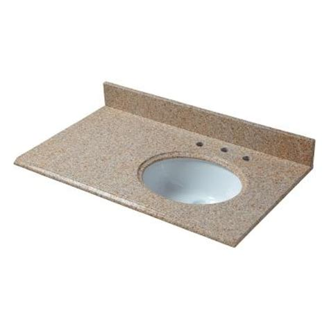 Offset Sink Vanity Top by Pegasus 37 In W Granite Vanity Top In Beige With Offset