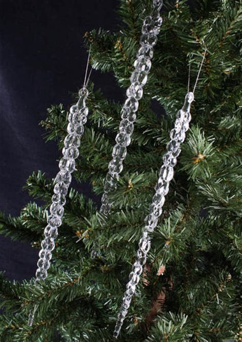 crystal clear icicle ornaments christmas ornaments