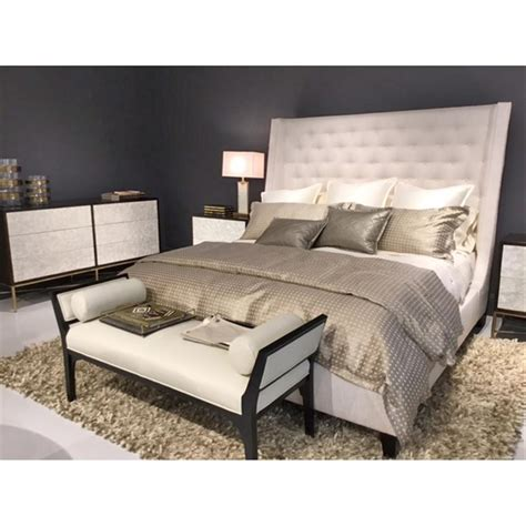 tall tufted bed mendel tall classic ivory tufted modern winged bed queen