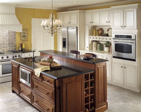 kraftmaid kitchen island kraftmaid lindsay chestnut with canvas a c kitchens and