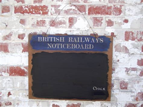 woods vintage home interiors railways wooden chalk board by woods vintage home
