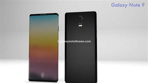 galaxy note ii concept phones samsung galaxy note 9 features in display fingerprint scanner in this new concept concept phones