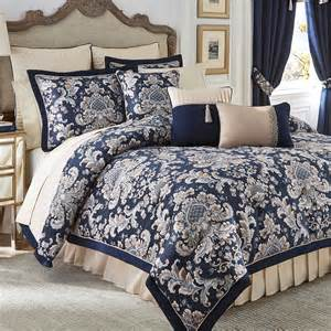 imperial indigo blue comforter bedding by croscill
