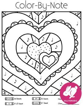music valentine coloring pages valentine s day draw and color by music notes music