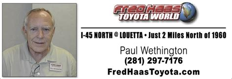 Fred Haas Toyota World Tx Christians In Business Fred Haas Toyota World Details