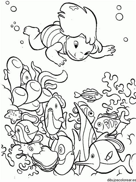 imagenes de niños nadando para colorear ni 241 a nadando en dibujo imagui
