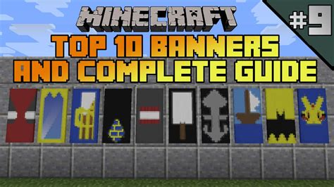 how to make a boat banner minecraft minecraft top 10 banner designs ep 9 with tutorial youtube