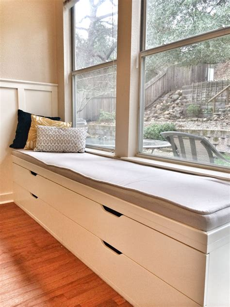 ikea window bench hack ikea hack window seat when i have a home pinterest