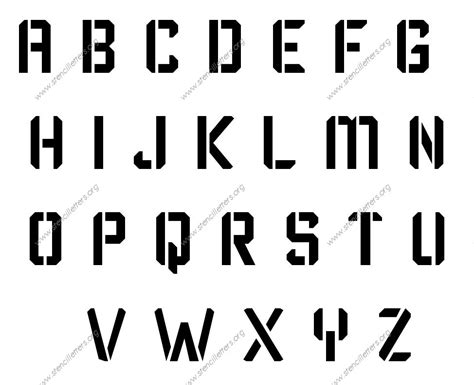 Unique Printable Stencils | techy modern made to order stencils stencil letters org