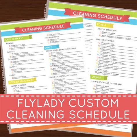 flylady zone cleaning checklist printable just b cause